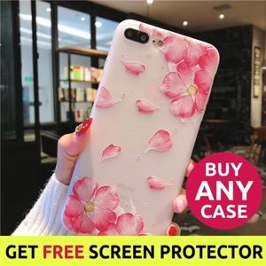 NEW iPhone Max/XR/XS/X/78/Plus Floral Case